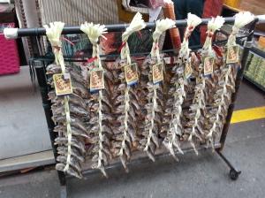 廣藏市場裡的魚乾,也很有裝置藝術味兒。