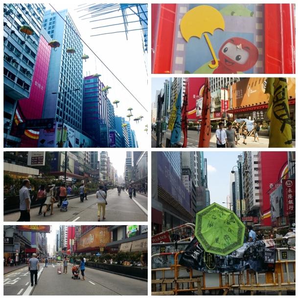 collage mongkok umbrella revolution
