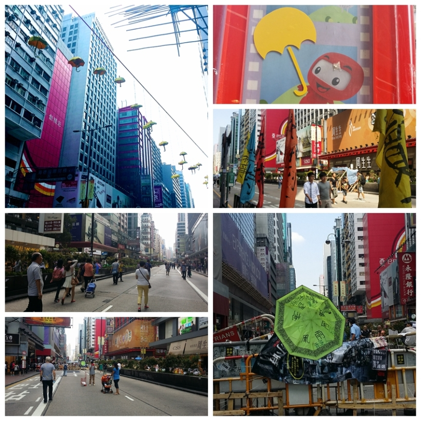 collage mongkok umbrella revolution