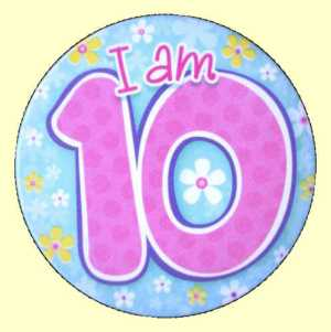 10th Birthday Badge - Green