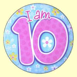 10th Birthday Badge - Green